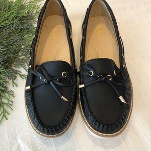 Black Boat Shoes - size 6.5 - NWOT